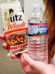 pretzels and water snacks how to give blood